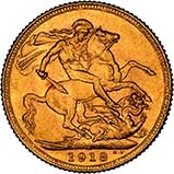 1918 Gold Sovereign George V Canada 24740