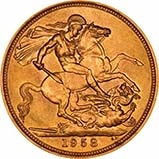 1958 Gold Sovereign Elizabeth II 23817
