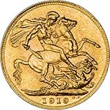 1919 Gold Sovereign George V Canada 23988