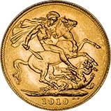 1919 Gold Sovereign George V Perth 25250