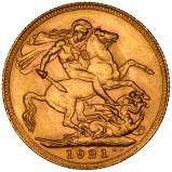 1921 Gold Sovereign George V Perth 20714