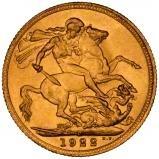 1922 Gold Sovereign George V Perth 22126