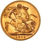 1923 Gold Sovereign George V Perth 21773