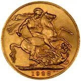 1928 Gold Sovereign George V Perth 25346