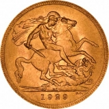 1929 Gold Sovereign George V South Africa Reverse