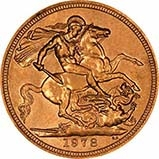 1978 Gold Sovereign Elizabeth II Royal Mint 25148