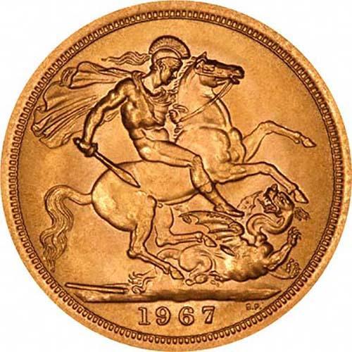 1967 Gold Full Sovereign Elizabeth II Royal Mint 20824