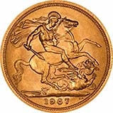 1967 Gold Full Sovereign Elizabeth II Royal Mint 20824