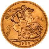 1966 Gold Full Sovereign Elizabeth II Royal Mint 25003