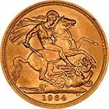 1964 Gold Sovereign Elizabeth II 24136