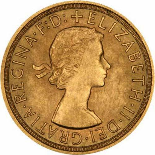 1957 Gold Full Sovereign Elizabeth II Royal Mint 24723
