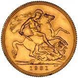1931 Gold Full Sovereign George V Perth 21933