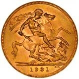 1931 Gold Full Sovereign George V South Africa 22267