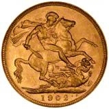 1902 Gold Sovereign Edward VII Perth 22895