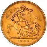 1930 Gold Full Sovereign George V Perth 25414