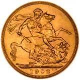 1902 Gold Sovereign Edward VII Sydney 21632