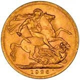 1926 Gold Sovereign George V South Africa 21171