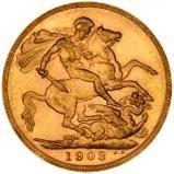 1903 Gold Sovereign Edward VII London 21353
