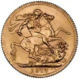 1917 Gold Sovereign George V Canada 23968