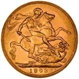 1903 Gold Sovereign Edward VII Perth 23793