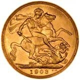 1903 Gold Sovereign Edward VII Sydney 22297