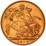 1904 Gold Sovereign Edward VII London 22134