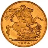 1904 Gold Sovereign Edward VII Sydney 20630