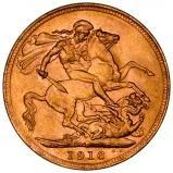 1916 Gold Sovereign George V Perth 24459
