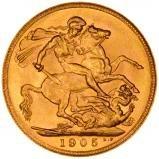 1905 Gold Sovereign Edward VII Sydney 24939
