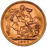 1906 Gold Sovereign Edward VII London 24748