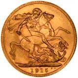 1915 Gold Sovereign George V Perth 24002
