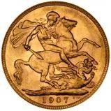 1907 Gold Sovereign Edward VII London 20698