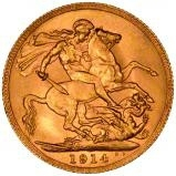 1914 Gold Sovereign George V Perth 23047