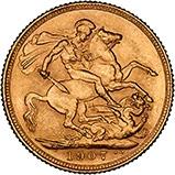 1907 Gold Sovereign Edward VII Sydney 24133
