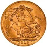 1913 Gold Sovereign George V Perth 24238