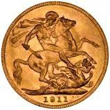 1911 Gold Sovereign George V Perth 22514