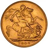1908 Gold Sovereign Edward VII Sydney 20837