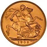 1909 Gold Sovereign Edward VII Sydney 21703
