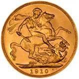 1910 Gold Sovereign Edward VII London 21399