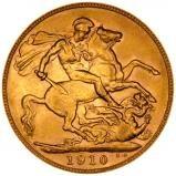 1910 Gold Sovereign Edward VII Perth 23205