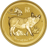 2019 0.25 oz Gold Coin Lunar Year of the Pig Perth Mint Bullion 22950