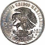 1968 Silver Mexico 25 Pesos  24027