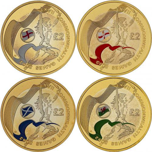2002 commonwealth games coin set