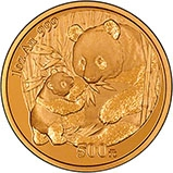 2005 1 oz Gold Coin Panda Bullion 24948