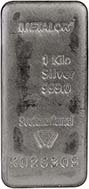 VAT Free 1 Kg Silver Bar w/ Cert Pre-Owned - Storage Only 24722