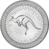2019 1 oz Silver Coin Kangaroo Perth Mint Bullion Reverse