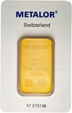 1 oz Gold Bar Metalor Pre-Owned 22074