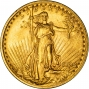 1908 $20 Double Eagle Saint Gaudens Philadelphia No Motto Gold Coin 40