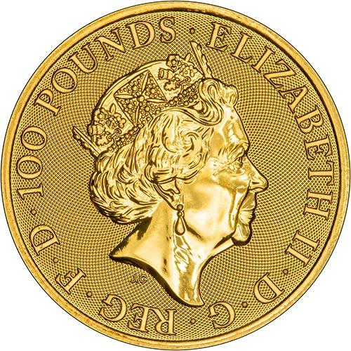 2019 1 oz Gold Coin Queen's Beasts Bullion Falcon of the Plantagenets 23643