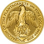 2019 1 oz Gold Coin Queen's Beasts Bullion Falcon of the Plantagenets 23642
